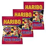 Haribo Wine Gums, 3er Pack, Gummibärchen, Weingummi, Fruchtgummi, Im Beutel, Tüte, 200 g