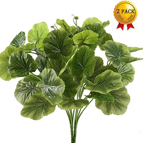 Künstliche Pflanzen 2 Stücke Begonie Zimmer Büro Dekor unechte Kunststoff Pflanze grüne Pflanze Frühling Dekorationen inner- oder Außenbreich(Nahuaa)