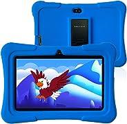 Pritom 7 inch kindertablet, Quad Core Android, 1 GB RAM + 16 GB ROM, WiFi, Bluetooth, dubbele camera, training, spelletjes,