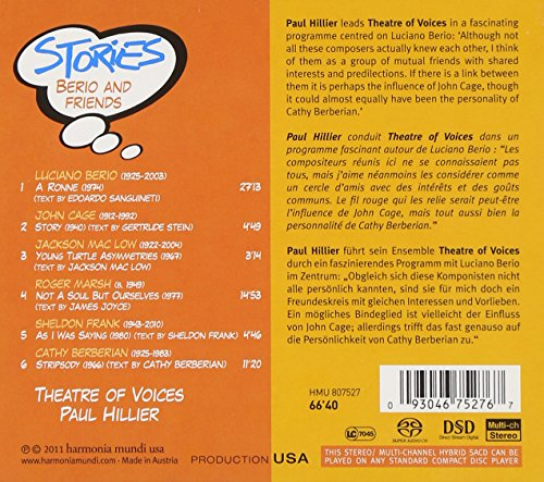 Image of Stories - Berio and Friends (Theatre of Voices/Paul Hillier)