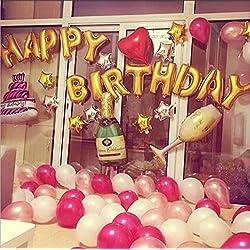 [127 Piezas ] Globos Fiesta Cumpleaños Paquete de Globos Globos de Helio Decoración de Fiestas Juegos de Globos Decoración de la Festivas Colores Variados