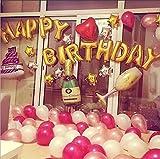 KINGTOP [127 Pièces] Ballons de Baudruche Sculptés Ballons Décoration pour Anniversaire, Soirée, Fête, Lettre Or