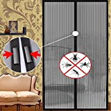 Egab Mosquito Door Net/Curtain - Mag netic Screen Door Full Frame Curtain With Hook and Loop Fastener Tape (49 cmX180 cm)(LxH)