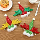 Gaddrt Weihnachten 3 STÜCKE Weihnachtsmann Weihnachten Hut Decor Gabel Taschen Löffel Abdeckung Abendessen Geschirr Fall