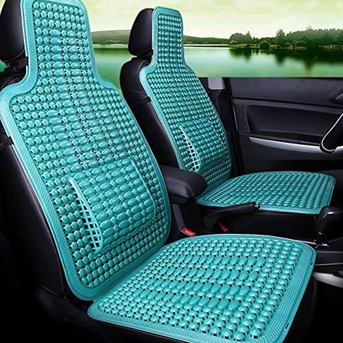 zslgogo 1 Stücke Sommer Kühlen PVC Perlen Auto Sitzbezug-Auto Massage Sitzkissen mit Taille Kissen (Größe: 41,5 41,5 cm)