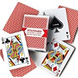 Single Red Deck, Wide Size, Jumbo-Index, Plastic-Coated Playing Cards by Brybelly