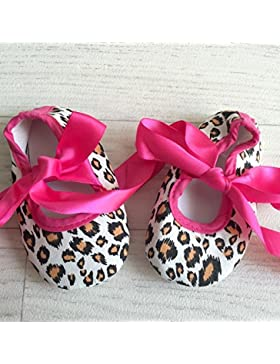 Bailarinas para bebé de 0 a 12 meses, diseño de estampado de leopardo rosa 3/6 meses, 6/9/0 meses, 3 meses, 9/...