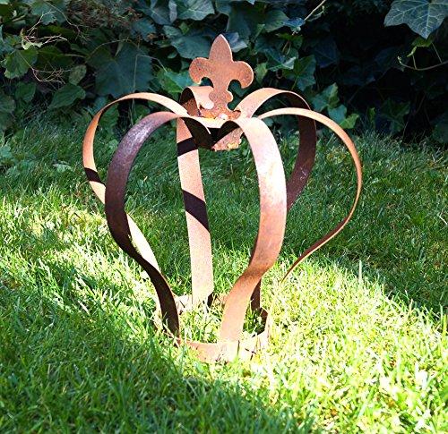 Nostalgic Garden Gartenkrone Dekokrone Gartendeko Edelrost Rostkrone braun gross Metall 29cm Rost