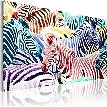 murando - Cuadro en Lienzo 90x60 cm - Impresion en calidad fotografica - Cuadro en lienzo - Abstraccion Cebra Animales 020116-38
