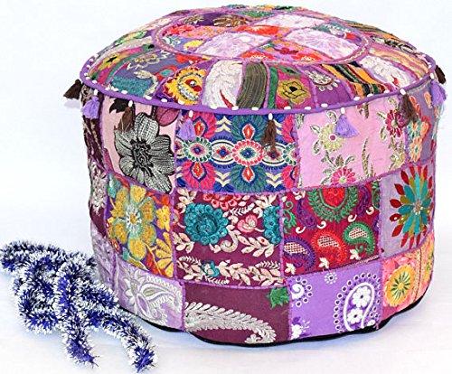 indischen Vintage-osmanischen Pouf, Patchwork osmanischen, Wohnzimmer Patchwork Fuß Hocker Cover,...