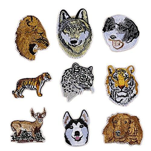 9 Piezas Parches Ropa - Bordado Animales Bricolaje