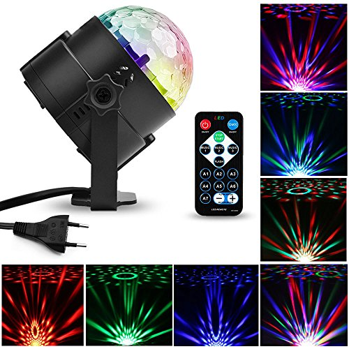 Mture LED Disco Licht Beleuchtung, Party licht Weihnachten Stadiums-Lichter Diskokugel Lampe Stimmenaktiviert Lampe Bühnenbeleuchtung