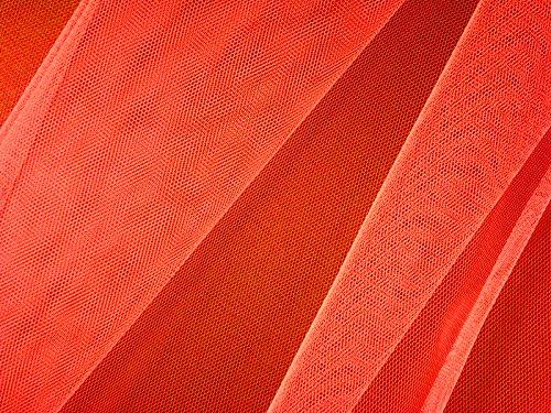 Feinmaschiger tulle, nylon env. 150 cm orange