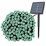 LED Lichterkette Solar, Glisteny Partybeleuchtung outdoor, 22M Kabel mit 200 LED Korn, 8 modi, mehrfarbig und wasserdicht, Für Innen oder außen Party, Dekorlampe für Fenster wie Weihnachsbaum grün