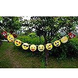 Lovely Cartoon Emoji-Papier Banner Flagge Kids Birthday Party Dekoration zum Aufhängen amesii