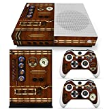 46 North Design Xbox One S Folie Skin Sticker Konsole Old Time Machine Clock aus Vinyl-Folie Aufkleber Und 2 x Controller folie & Kinect Skin