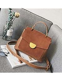 661db8acbdfa0 HZTDDA Korean Fashion Handtaschen Wild Carry Bag Retro Matte Schulter  Messenger-Tasche Grün