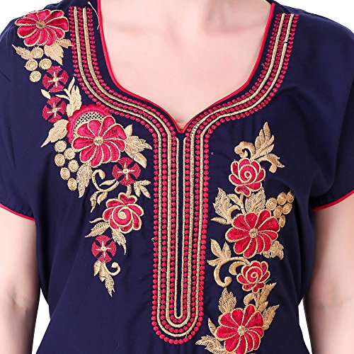fda91e96c80 78% OFF on BOMBSHELL Best Fabric of Cotton Long Embroidered Nighty for  Women s(Bust