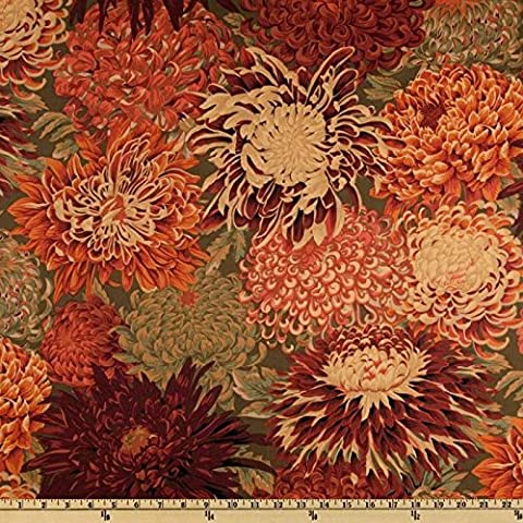 Kaffe Fassett Japanese Chrysanthemum Brown- Per Quarter