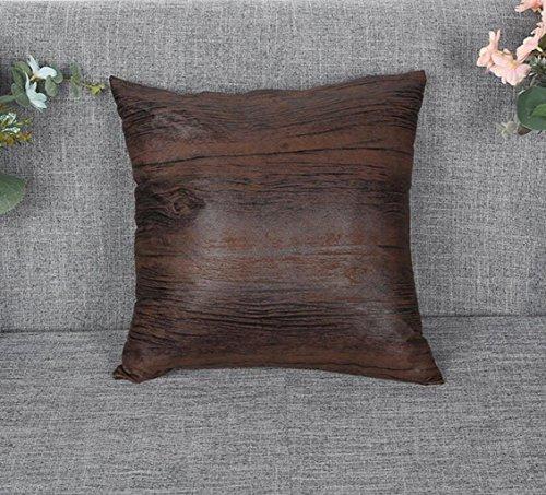 Sucastle cuscino federa per cuscino decorativo di scivolamenti da auto letto divano design pelle smerigliata 45*45cm