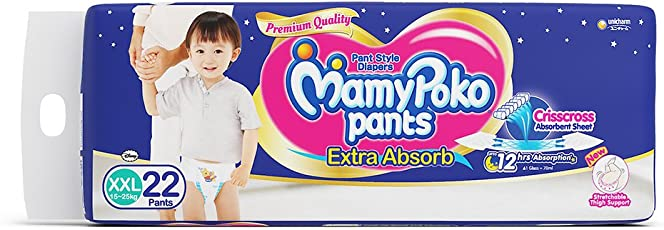 MamyPoko Pant Extra Absorb XXL Size Diapers (22 Count)