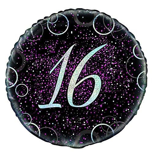 45,7cm Glitz Pink Folie zum 16. Geburtstag Ballon ()