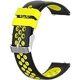 KOMI Bracelet de rechange Quickfit en silicone avec trou d'aération 18 mm/20 mm/22 mm
