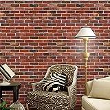 Prevently Wandaufkleber 3D nahtlose Mosaik Tapete Wall Paper Brick Stein Effekt selbstklebende Wand Aufkleber Room Decor (Als Bild)
