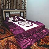 Peponi Satin Purple Wedding Bedding Set ...