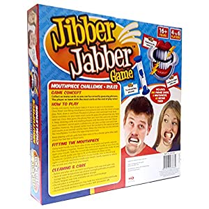 Jibber Jabber Party Game - The Hilarious Mouthpiece Game for Christmas Party Loud Mouth Board Game Challenge - UK Edition Version - Family GamesP from PMS International