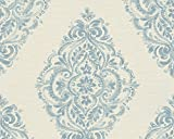 A.S. Création Vliestapete Around the world Tapete barock 10,05 m x 0,53 m beige blau Made in Germany 306951 30695-1