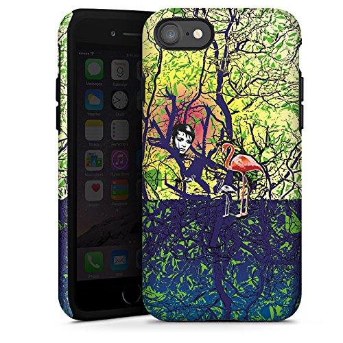 Apple iPhone X Silikon Hülle Case Schutzhülle Flamingo Wald Zaubern Tough Case glänzend