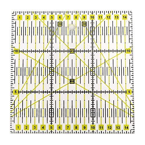 Sheens Quadratisches Acryllineal, grünes Quiltlineal Lasergeschnittenes Acrylquiltlineal zum Quilten Nähen & Basteln