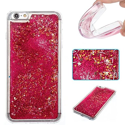 Coque iPhone 4, Coque iPhone 4S, Flowing Liquide Floating Luxe Bling Glitter Sparkle Case Cover pour iPhone 4 / 4S 8# 7G