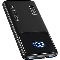 INIU Powerbank, 20W PD 3.0 QC4.0 Schnellladegerät LED Display 10500mAh Externer Akku, USB C Power Bank mit…