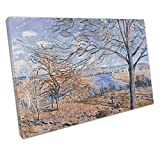 Alfred Sisley Banks of the Loing Autumn Effect reproduction print 75 x 50cm