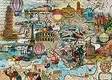 Schmidt Balloon Flight across Europe Jigsaw Puzzle (1000-Piece)