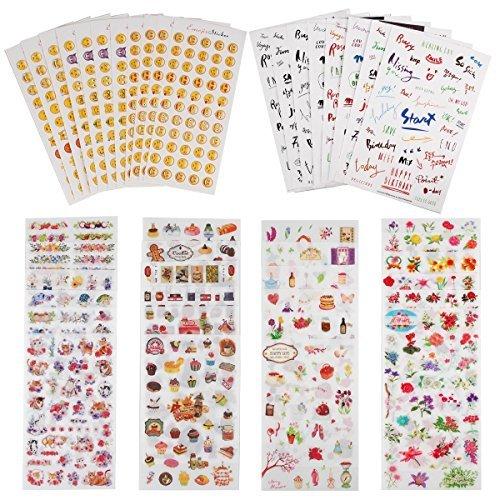 Planer Aufkleber Value Pack (sortiert 1877PCS, 44Blatt)-Deko Sticker Kollektion für Scrapbooking, Kalender, Kunst, Kinder DIY Handwerk, Album, Bullet Zeitschriften von knaid -