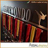 Medaldisplay - Porta medallas/medallero de pared Taekwondo, 600mm x 100mm x 3mm
