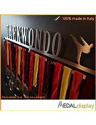 Taekwondo | Puerta medallas Taekwondo/medallón de pared medaldisplay Medal Hanger, 600mm x 100mm x 3mm