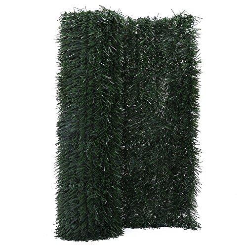 Zelsius - Sapin brise-vue et coupe-vent - Pour balcon, jardin et terrasse-Plusieurs tailles 300 x 100 cm vert