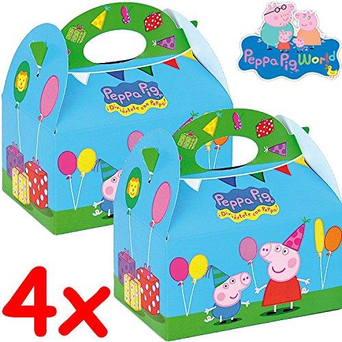 Pappe * PEPPA PIG * für Kindergeburtstag und Mottoparty // CONO // Party Kinder Kinderparty Mitgebsel Geschenktüten Tüten Partyboxen Wutz ()