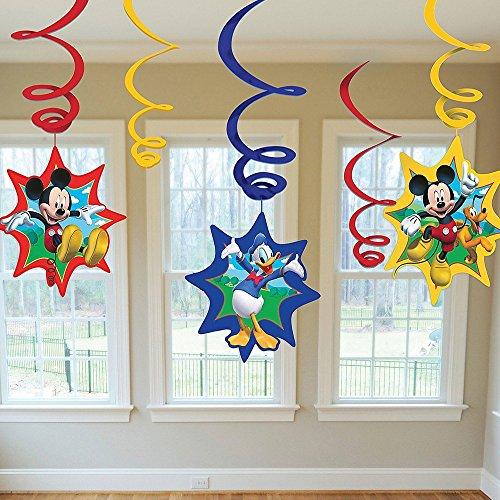 eburtstag Spiral Wirbel Dekoration Mickey Mouse 6 Stk (Mickey-mouse Geburtstag Party Dekorationen)