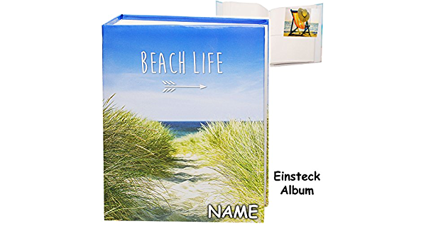 Strand Haus /& K/üste inkl Gebunden zum Einstecken.. 10 x 15 Reise // Urlaub Name /_/_ 200 Bilder /& Fotos alles-meine.de GmbH gro/ßes Einsteckalbum // Memoalbum // Fotoalbum