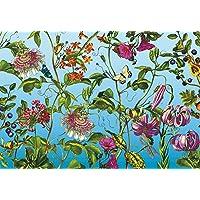 Komar 1–XXL4–029368x 248cm Jardinde flores y mariposas–Mural–Multicolor (4unidades)