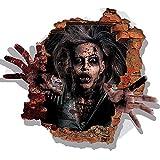 W&ZCH Schreckliche Weibliche Zombie 3D Wandaufkleber Moderne DIY Wohnkultur Für Wohnzimmer Haunted Haus Dekoration PVC Material Wandbild Aufkleber