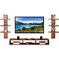 Anikaa Carlet Engineered Wood TV Entertainment Unit/Wall Set Top Box Shelf Stand/TV Cabinet for Wall/Set Top Box Holder…