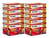AgfaPhoto Vista Plus 200 135-36 Negativ Film für Papierbilder (10-er Pack = bis zu 360 Aufnahmen)