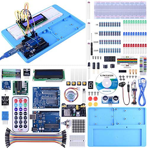 Kit Compatible con ArduinoIDE, UNIROI Kit de Iniciación Completo con