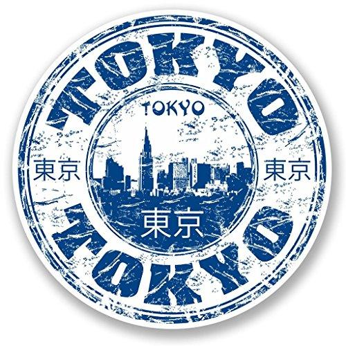Preisvergleich Produktbild 2x Tokio Japan Vinyl Aufkleber Aufkleber Laptop Reise Gepäck Auto Ipad Schild Fun # 5776 - 10cm/100mm Wide